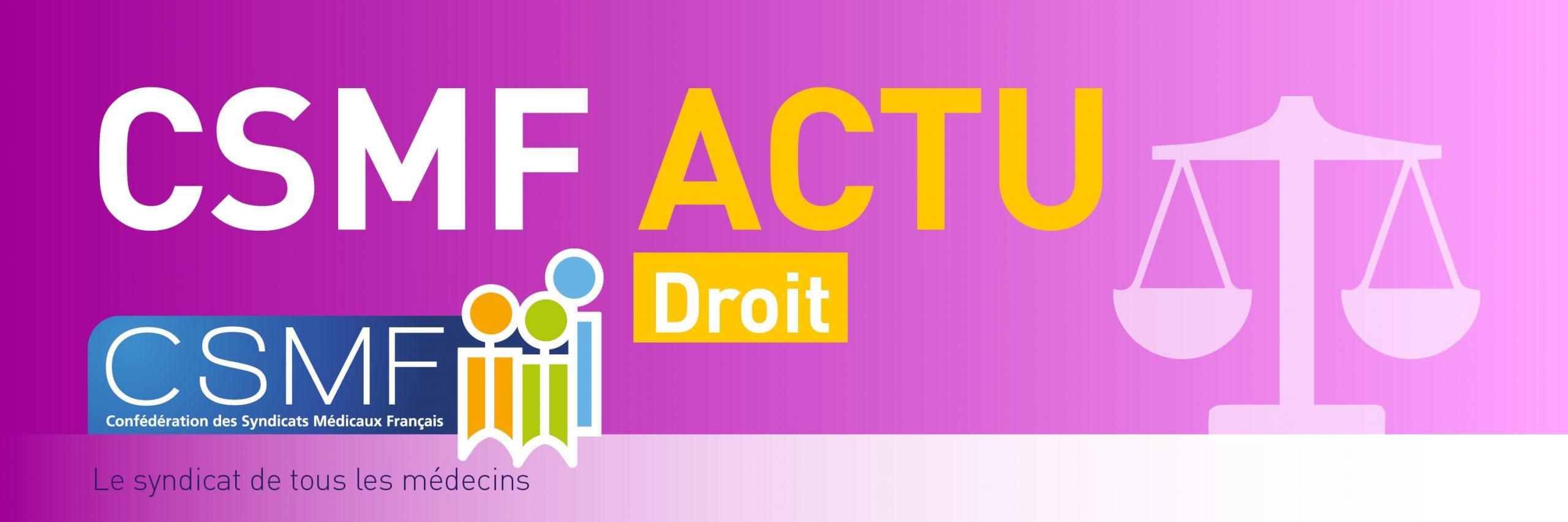 Bandeau CSMF ACTU DROIT Site