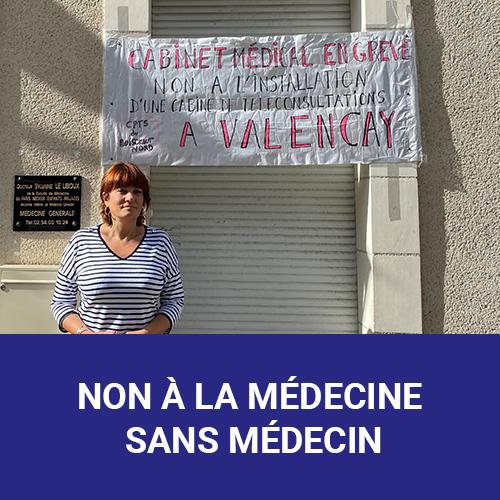 Vignette accueil - Non à la médecine sans médecin